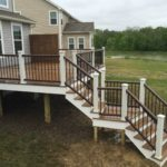 Trex Elevations steel Frame with Trex Decking and custom wall built in Twinsburg OH